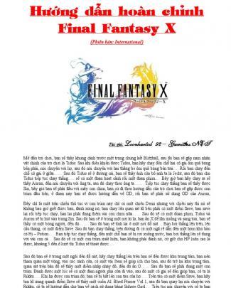 Huong Dan Final Fantasy X