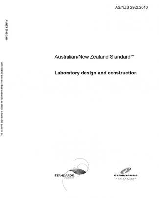As Nzs 2982-2010 Laboratory Design And Construction