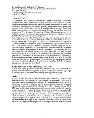 Ejercicio Intermitente En Deportes De Conjunto.