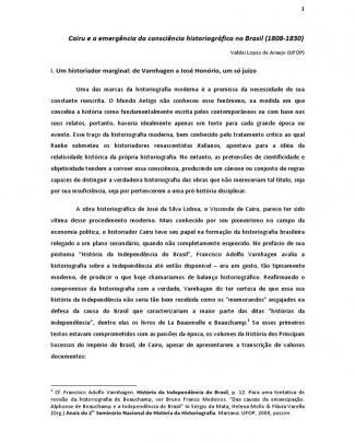 Cairu E A Emergencia Da Consciencia Historiografica No Brasil 1808-1830 I-libre