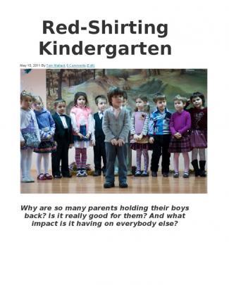 Red Shirting Kindergarten