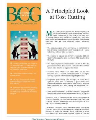 Bcg - A Principled Look At Cost Cutting