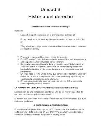 Unidad 3 Historia Del Derecho Siglo 21 Resumen