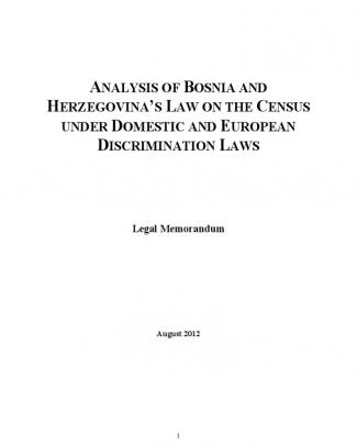 Discrimination In Bih's Law On The Census