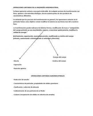 Operaciones Unitarias En La Ingeniería Agroindustrial