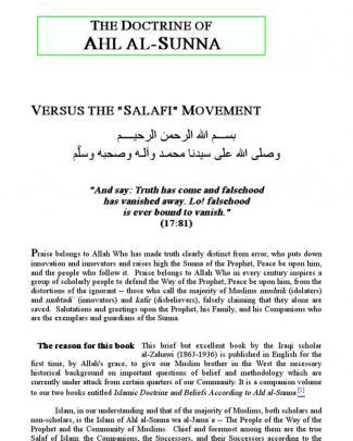 Shaykh Jamil Al Effendi Al Zahawi Al Iraqi's Refutation Of Wahhabism