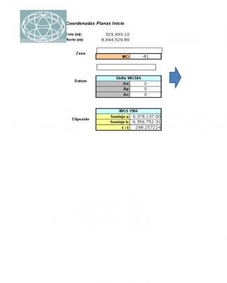Transformación Coordenadas Wgs84 Psat56