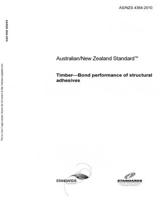 As Nzs 4364-2010 Timber - Bond Performance Of Structural Adhesives