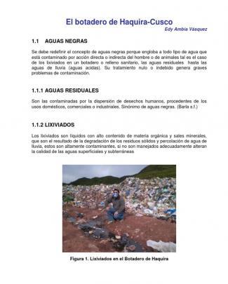 Botadero De Residuos Solidos De Haquira
