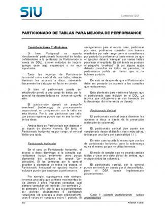 Particionado De Tablas Postgresql