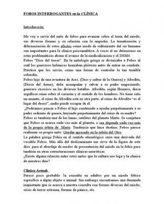 Fobos Interrogantes En La Clínica - David Szyniak