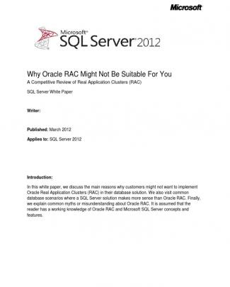 Sql Server 2012 Why Oracle Rac Might Not Be Suitable For You Apr2012