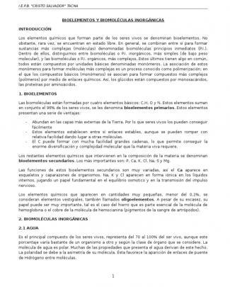 Bioelementos Y Biomoléculas Inorgánicas  5to Secundaria.docx