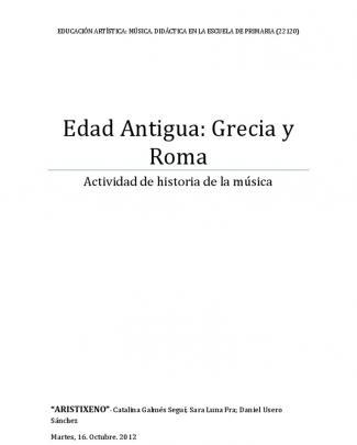 Edad Antigua: Grecia Y Roma