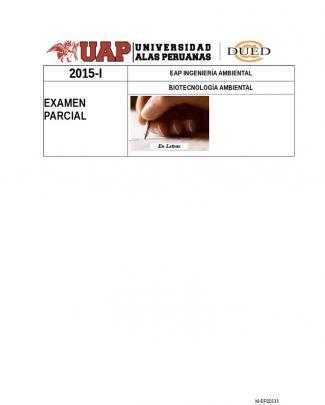 Examen Parcial De Biotecnologia Ambiental2012205880