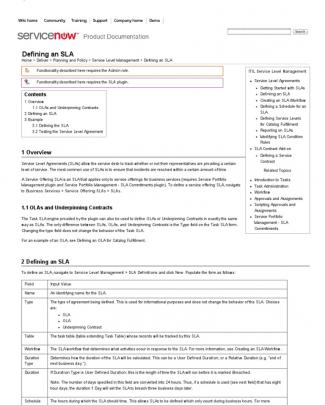 Defining An Sla - Servicenow Wiki