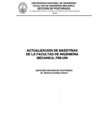 Maestrias En Ing Mecanica En La Uni
