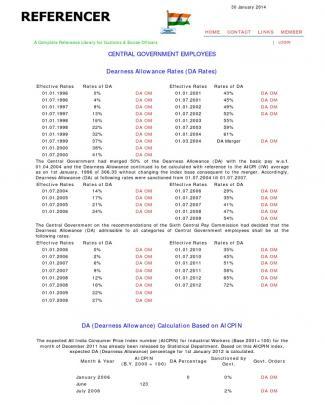 Referencer _ Da Rates (dearness Allowances Rates)