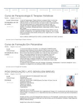 Inppnet - Instituto Nacional De Parapsicologia Psicometafísica - Cursos à Distância