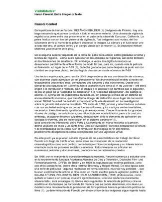 Harun Farocki-analisis De La Imagen 7