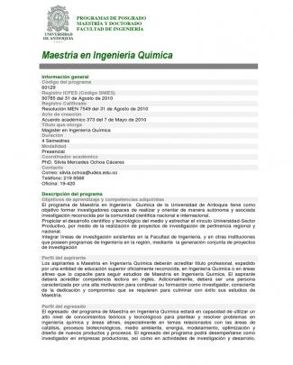Maestria En Ingenieria Quimica