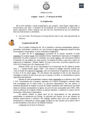 Clase De Lengua - Ingreso Cnba