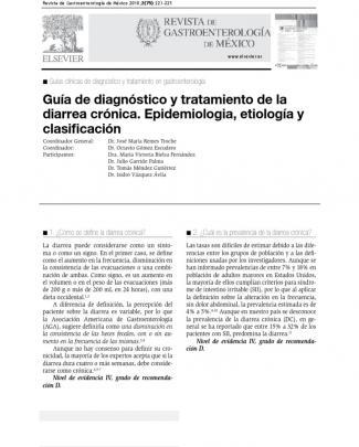 Diarrea Cronica Epidemio, Etiologia, Clasificacion