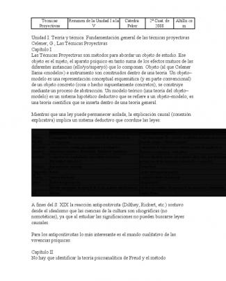 Técnicas Proyectivas.docx Resumen Graciela Celener