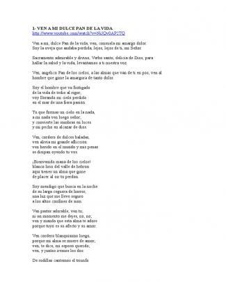 Cancionero Eucaristico