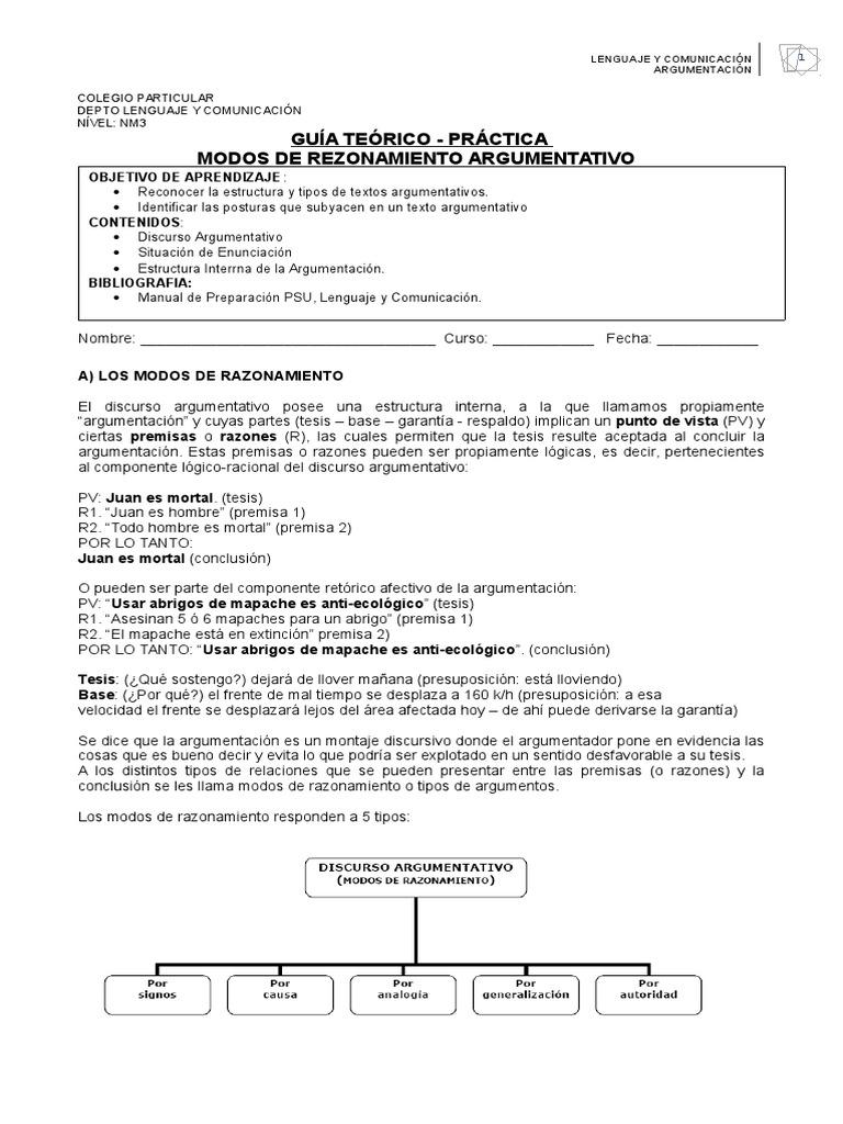 Modos De Razonamiento Argumentativo Id 5d06a7344d83d